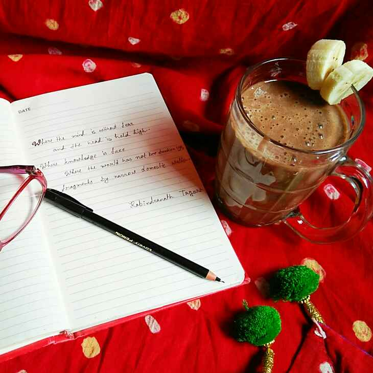 Photo of Chocolate banana smoothie by Sanjhbati sen at BetterButter