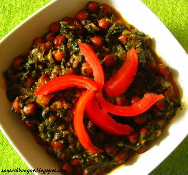 Photo of Black Channa  Spinach Curry by Santosh Bangar at BetterButter