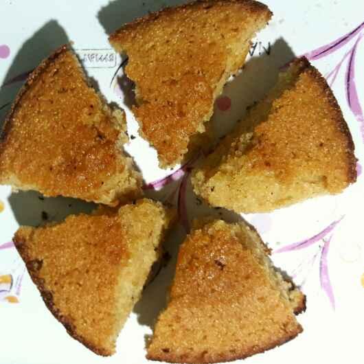 How to make कुकर में बना सूजी केक