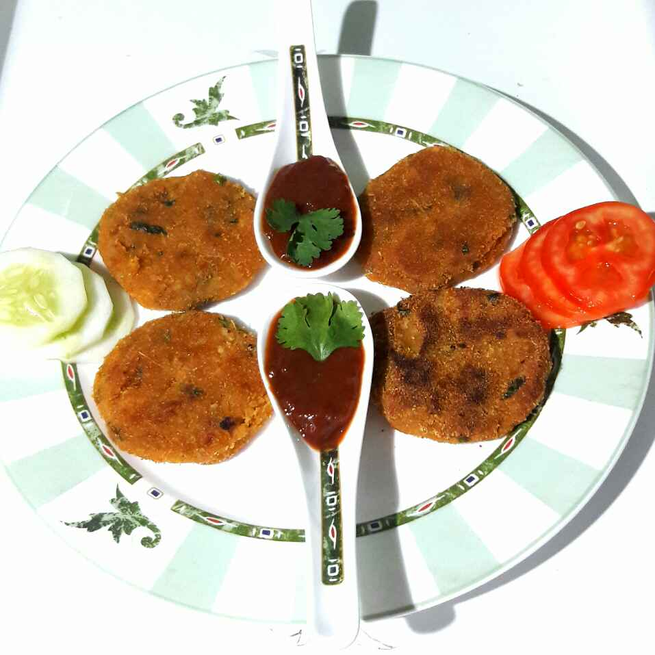 Photo of Potato Chickpea patties by Sanuber Ashrafi at BetterButter