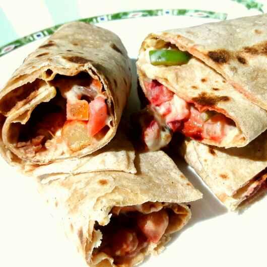 How to make Beans and chickpeas veg burritos