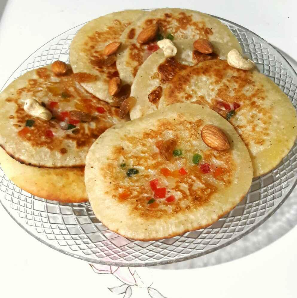 How to make Dry fruit tuti fruti pancakes