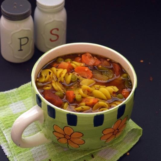 Photo of Veg Pasta Soup by sapana behl at BetterButter