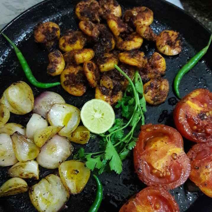 How to make Tawa bhaja chingudi
