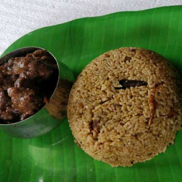 How to make Green masala mutton briyani with mutton semi gravy