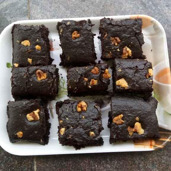 How to make கோதுமை மாவு வால்நட் ப்ரௌனி
