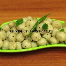 How to make Coconut milk ammini kozhakkattai/Mini rice balls