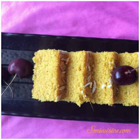 How to make Mango semolina eggless cake