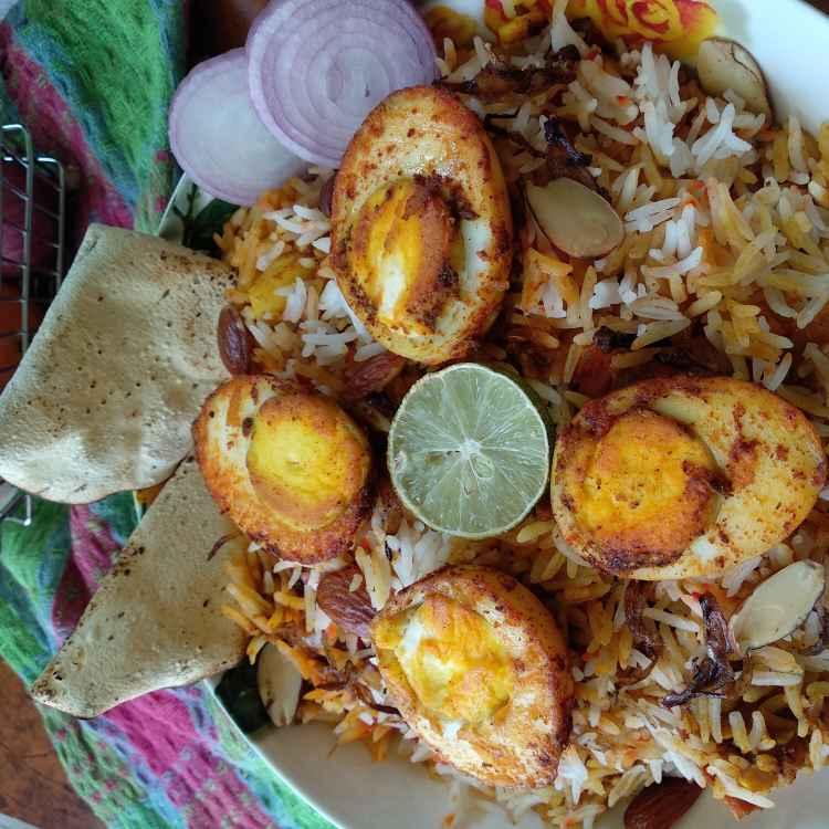 How to make Hyderabadi egg dum biryani