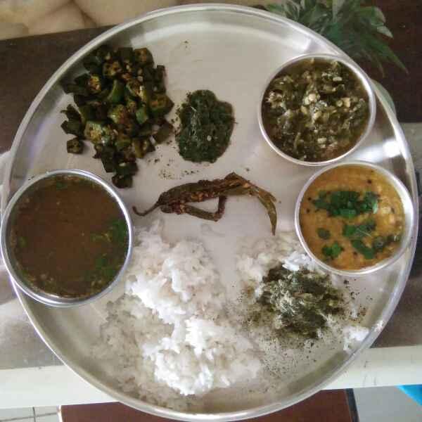 How to make Green Thali
