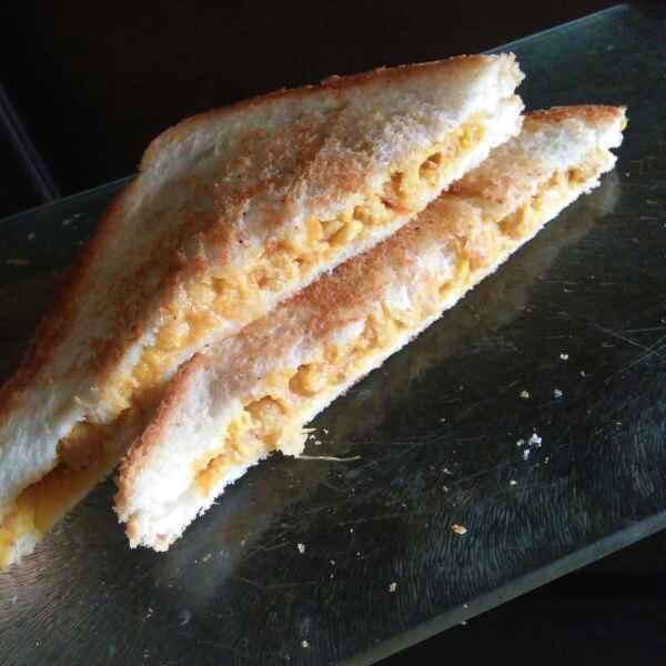 How to make Soya chunks sandwich