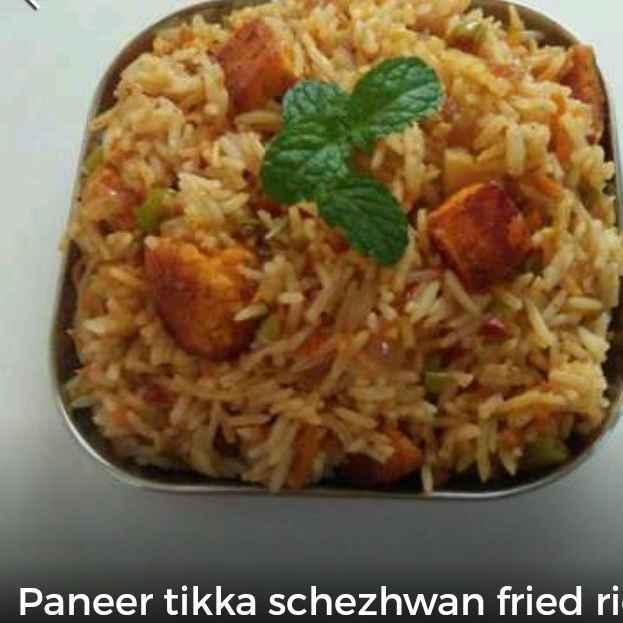Photo of Paneer tikka schezwan fried rice by Sarojam Arumugam at BetterButter