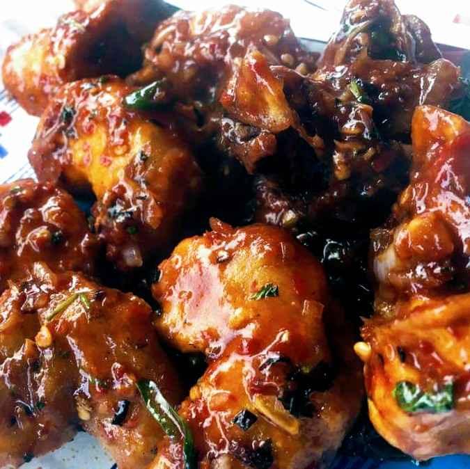 Photo of Prawn schezwan recipe by Sashi Prakash at BetterButter