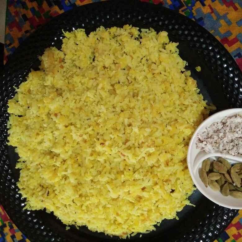 How to make Cardamom coconut sweet khichdi