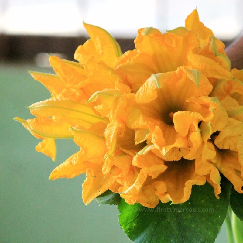 How to make Pumpkin Flower Fritters