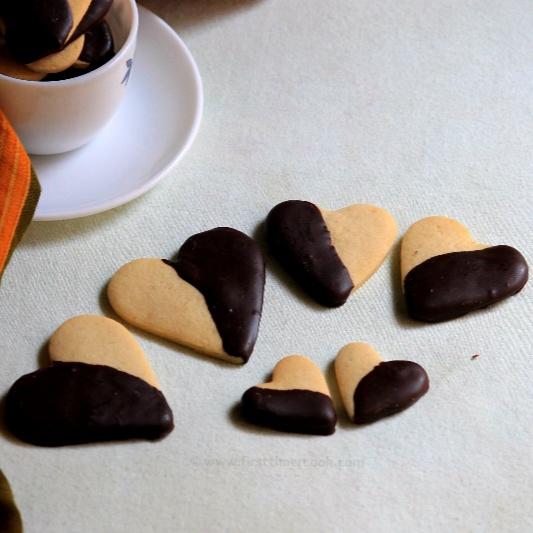 Photo of Chocolate Dipped Heart Shape Cinnamon Cookies by Sasmita Sahoo Samanta at BetterButter