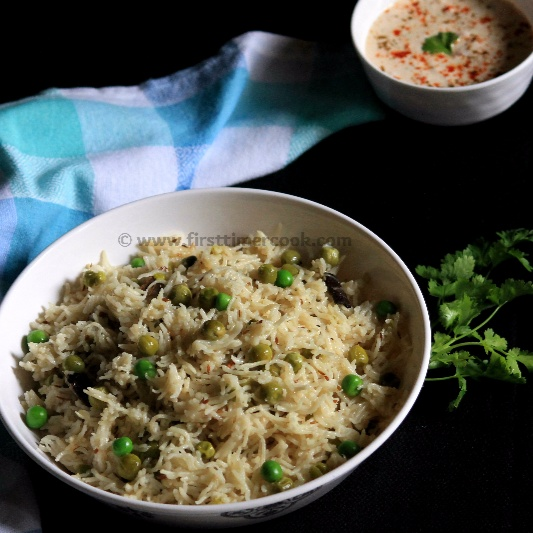 How to make Peas Pulao (no onion & no garlic)