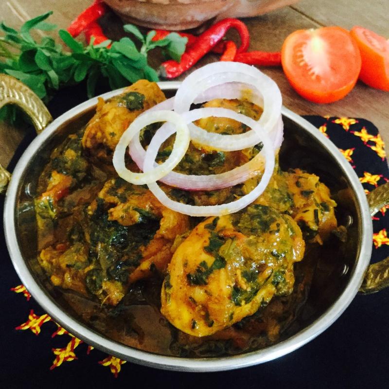 Photo of Methi Dahi Murgh/ Chicken with fenugreek and yoghurt by Saswati Hota at BetterButter