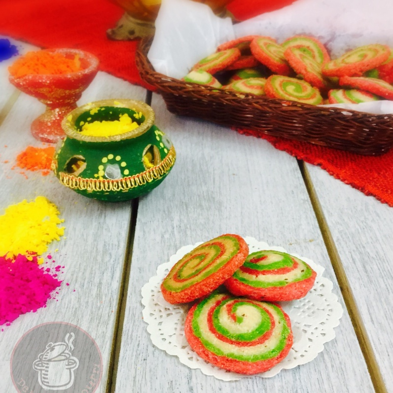 Photo of Colourful Swirl Mathri by Saswati Hota at BetterButter