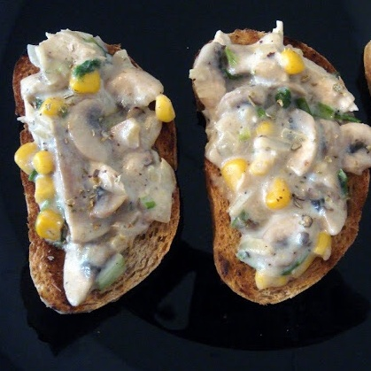 How to make Corn and Mushroom on Toast