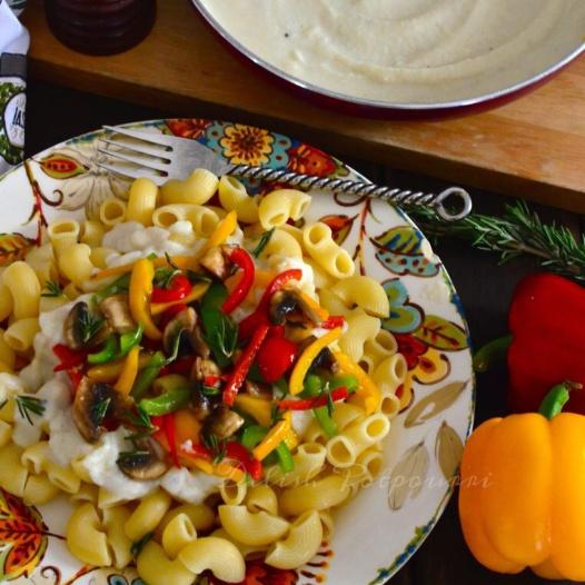 Photo of Veggie Pasta with creamy Cauliflower Sauce by Saswati Hota at BetterButter