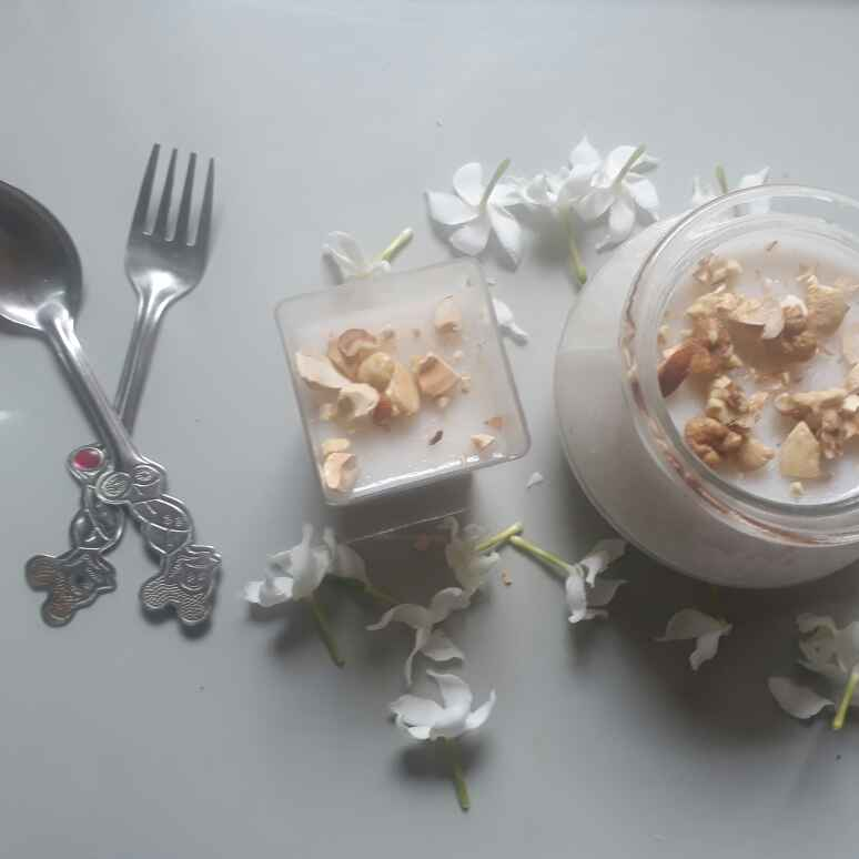 Photo of tender coconut pudding by Sathya Vijay at BetterButter