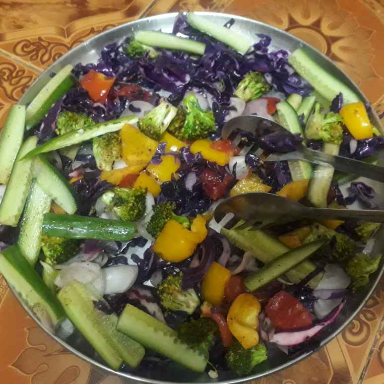 Photo of Colourful vegetable salad by Sathya Vijay at BetterButter