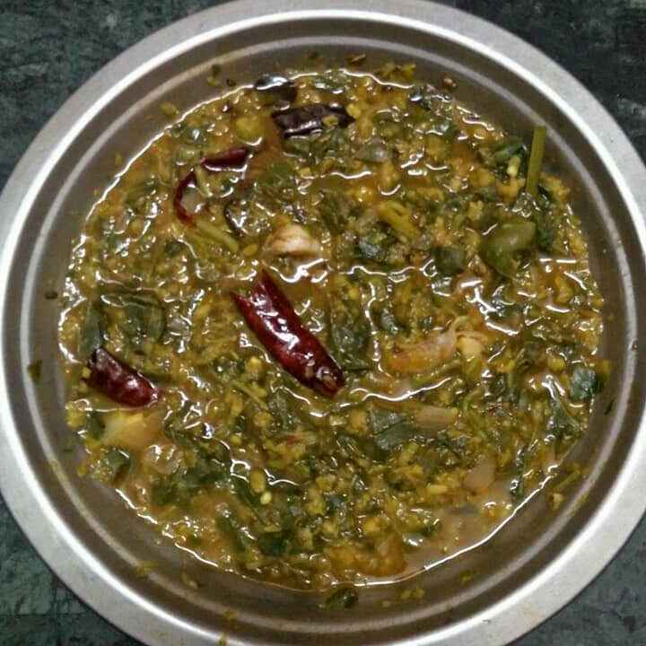 Photo of Moongdal Amaranth leaves curry by Satya Harika at BetterButter