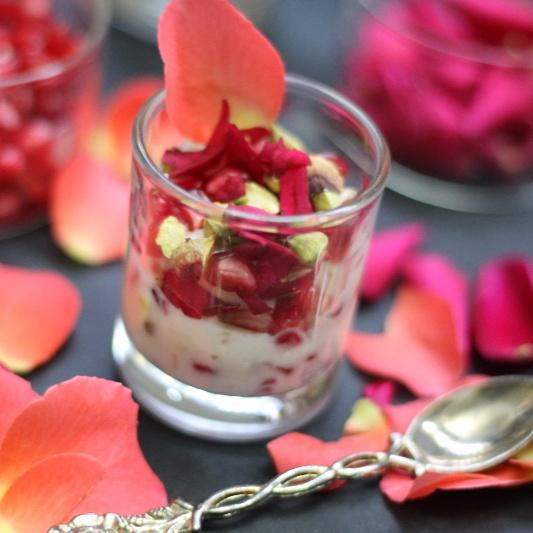 How to make Pomegrante Pistachios Rose Shrikhand