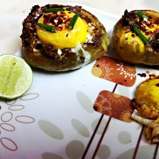 Photo of Egg in potato roasted by Sayan Majumder at BetterButter