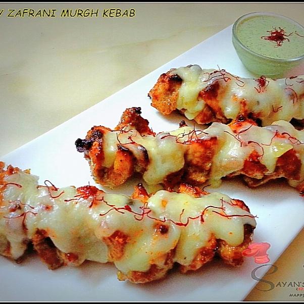 How to make Cheesy Zafrani Murgh Kebab