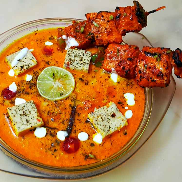 How to make Fish Tikka in Creamy Herbed Cheesy Gravy