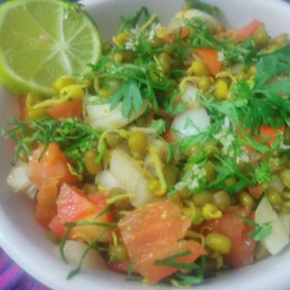 Photo of moong sprou salad by Seema jambhule at BetterButter
