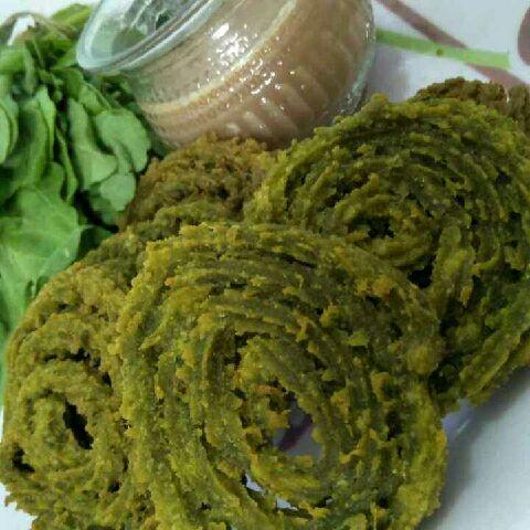 How to make Palak chakli