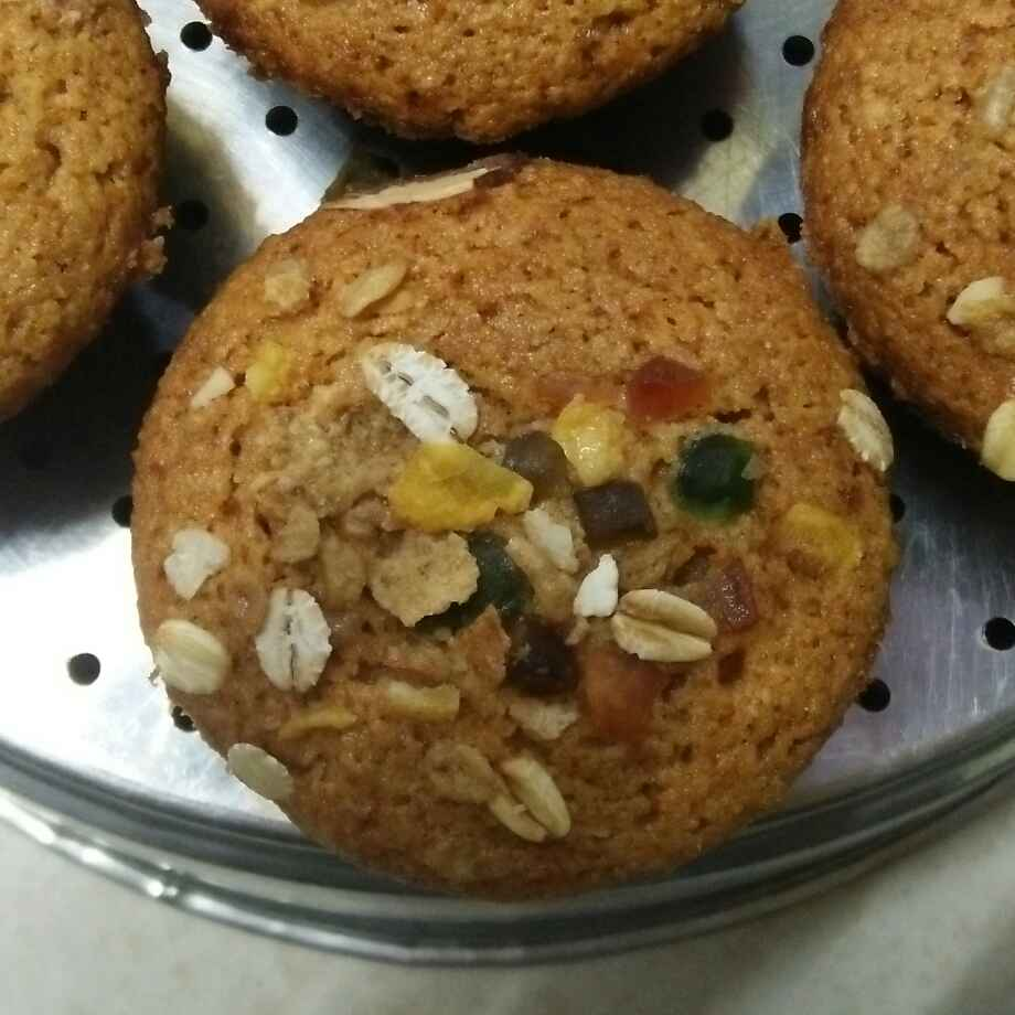 Photo of Wwf oats coconut pineapple muffins by seema Nadkarni at BetterButter