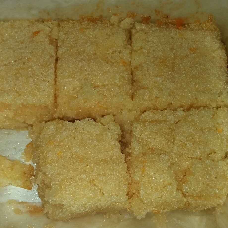 Photo of Orange rava barfi by seema Nadkarni at BetterButter