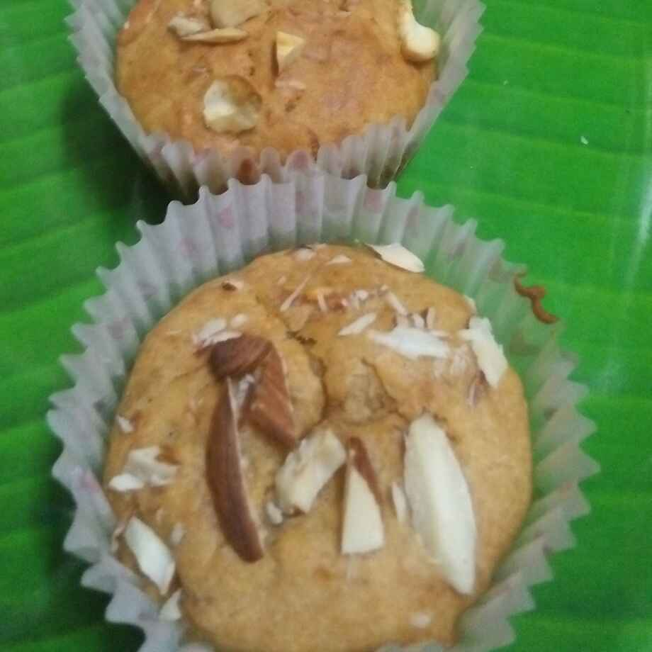 Photo of Carrot halwa cup cake by seema Nadkarni at BetterButter