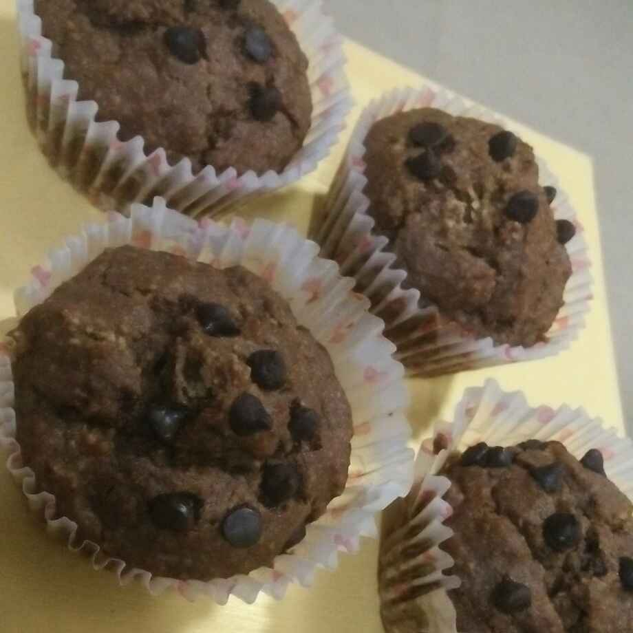 Photo of Chole chana chocolate chips cup cake by seema Nadkarni at BetterButter