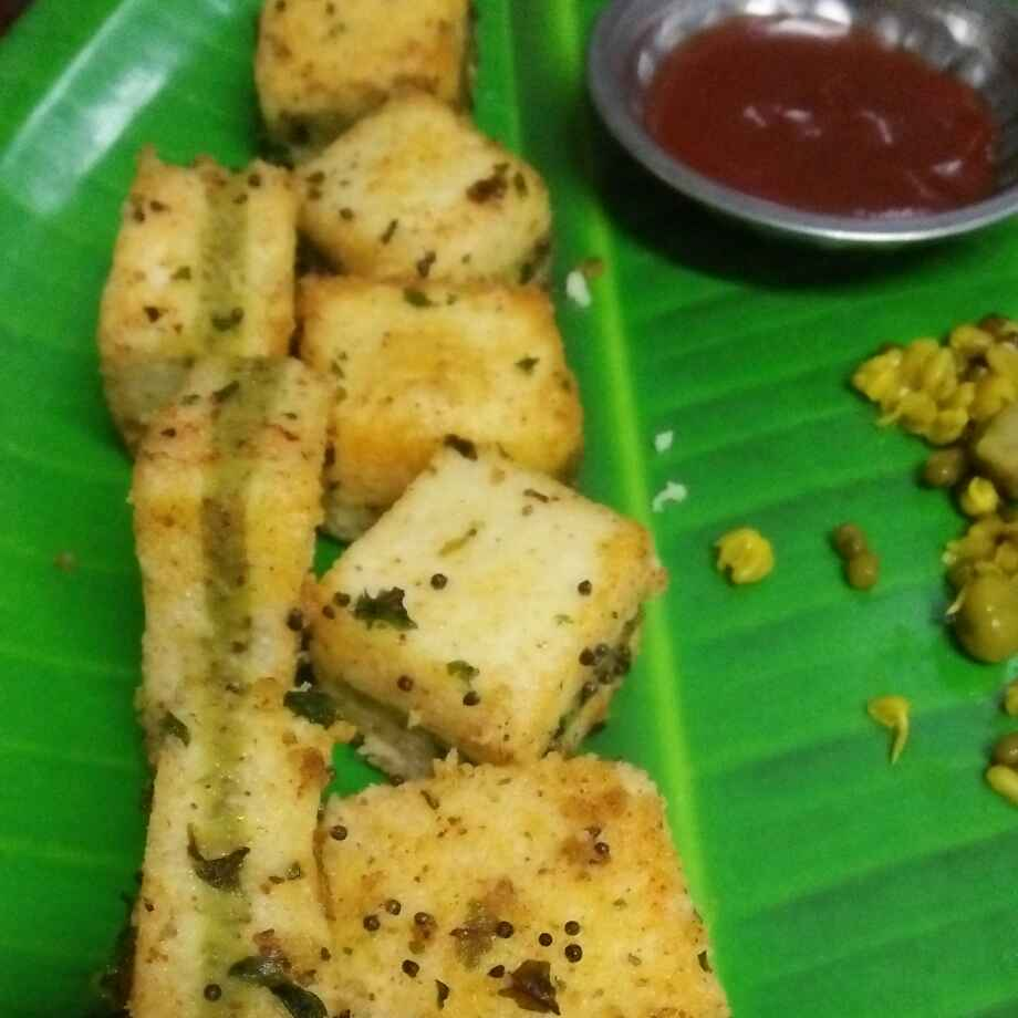 Photo of Mix sprouts sendwich dhokla by seema Nadkarni at BetterButter