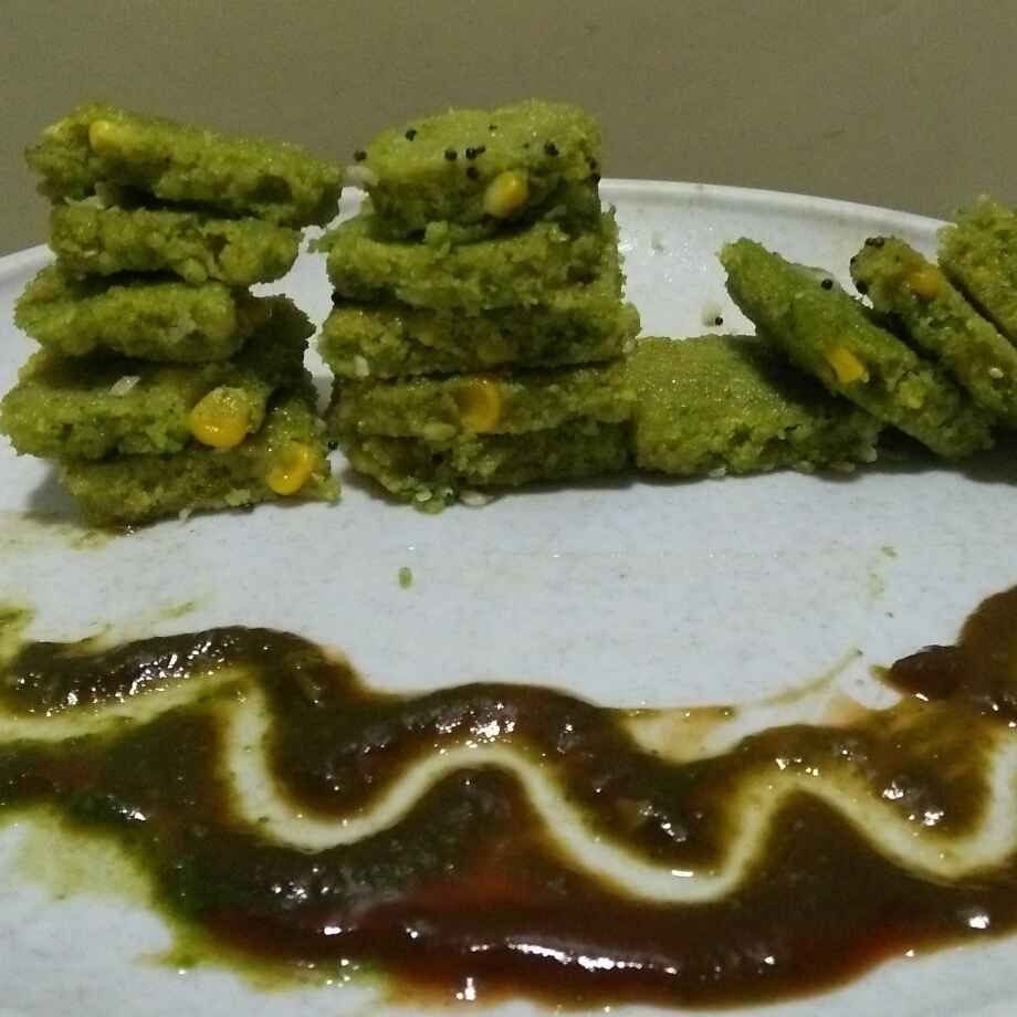 Photo of Corn spinach dhokala by seema Nadkarni at BetterButter