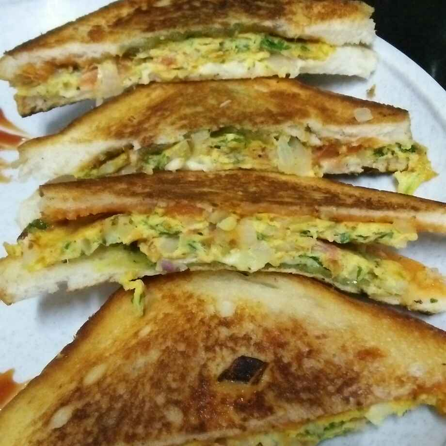 Photo of Masala omelet cheese grilled sandwich by seema Nadkarni at BetterButter