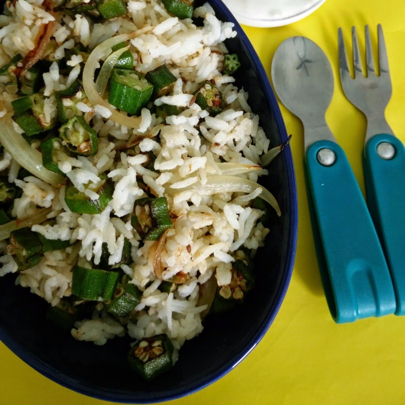 Photo of Okra/ Ladies Finger Fried Rice by Seema Sri at BetterButter