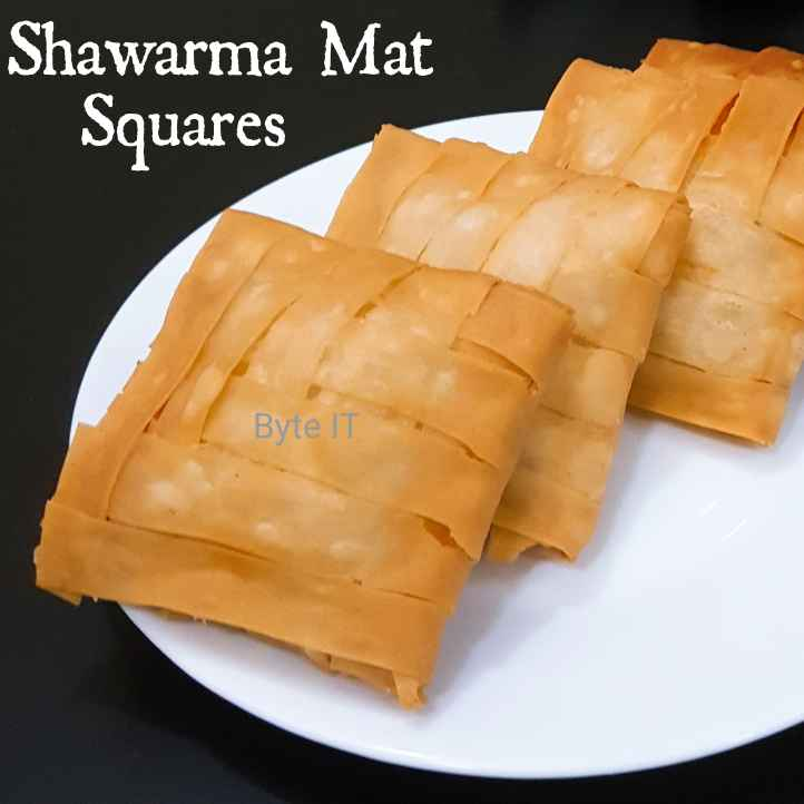 Photo of SHAWARMA MAT SQUARES by Byte IT at BetterButter