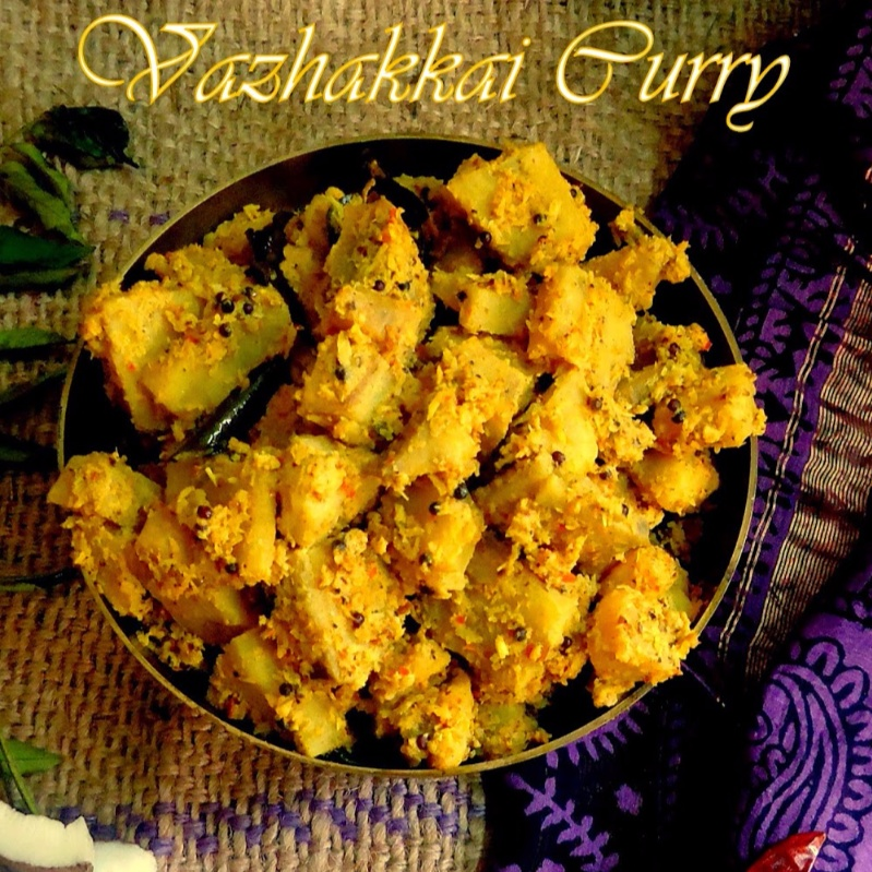 How to make Vazakhhai Curry/ Plantain Curry