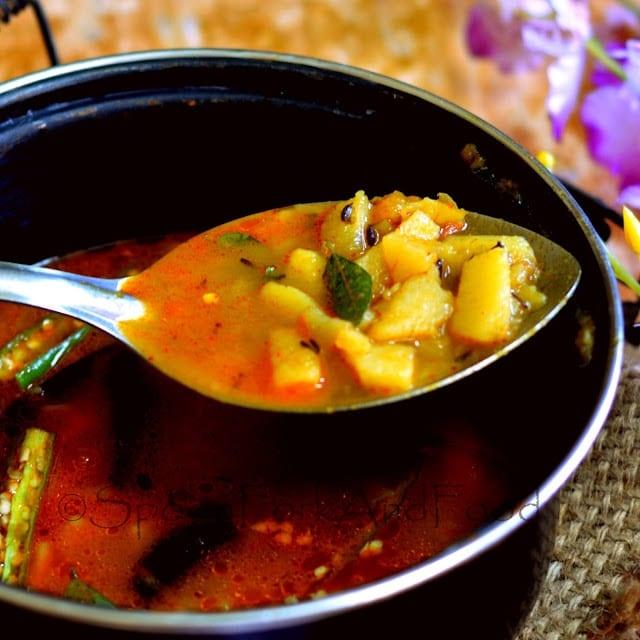 How to make Bedmi Aloo ( UP Style - No Onion, No Garlic Spicy Potato Curry)