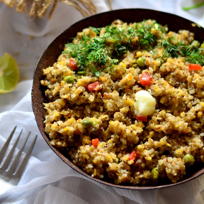 How to make Broken Wheat and Mixed Millet Upma