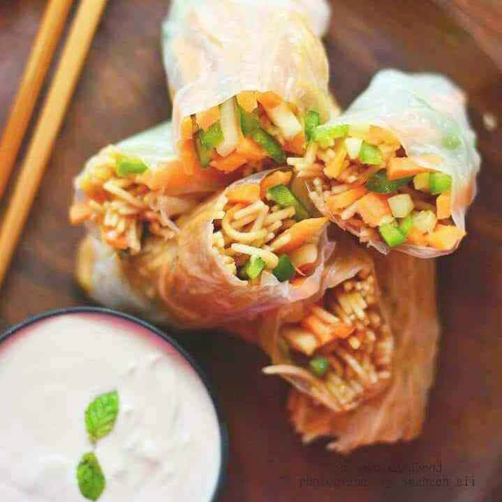 How to make Spicy Maggi Noodle Wrap