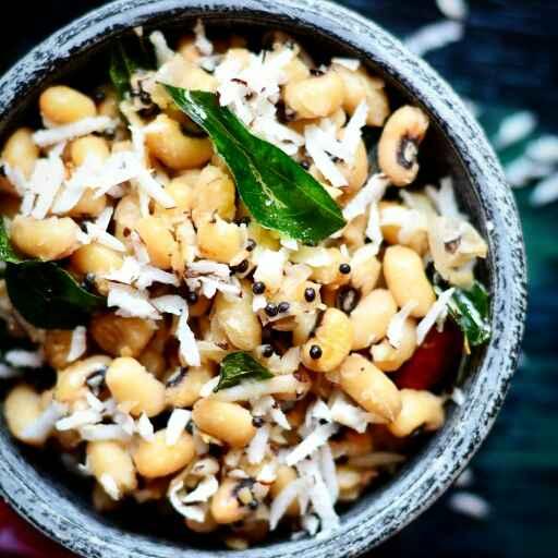 How to make Karamani Sundal - Lobia Sundal