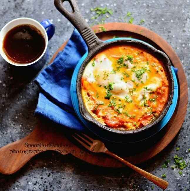 How to make Moroccan Eggs on Tomato Chickpea Bed