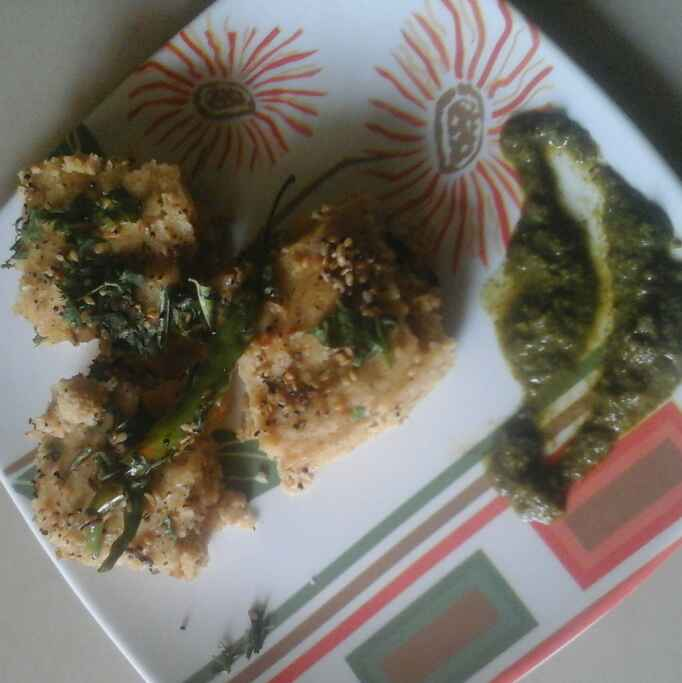 How to make Oats dhokla
